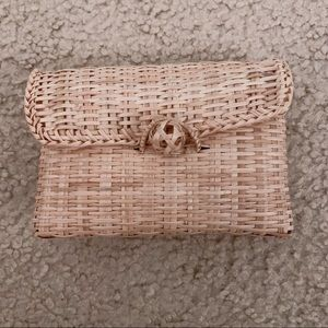 Small Woven Pouch with Satin Lining